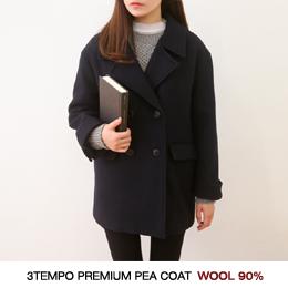 쓰템 pea coat (ct) (울 90%)