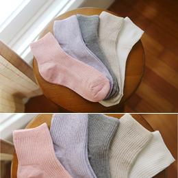 코튼 골지 socks